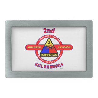 "2ND ARMORED DIVISION ""HELL ON WHEELS"" BELT BUCKLE"