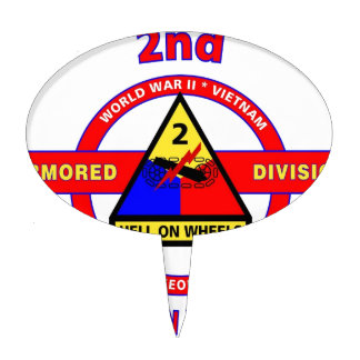 """2ND ARMORED DIVISION """"HELL ON WHEELS"""" CAKE TOPPER"""