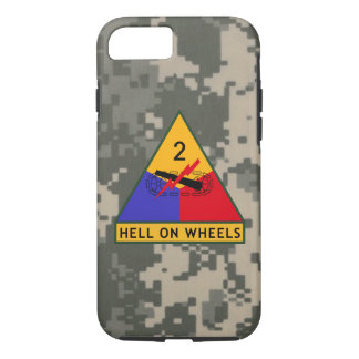 "2nd Armored Division ""Hell On Wheels"" Camo iPhone 8/7 Case"
