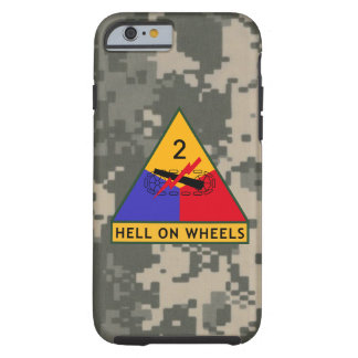 "2nd Armored Division ""Hell On Wheels"" Camo Tough iPhone 6 Case"