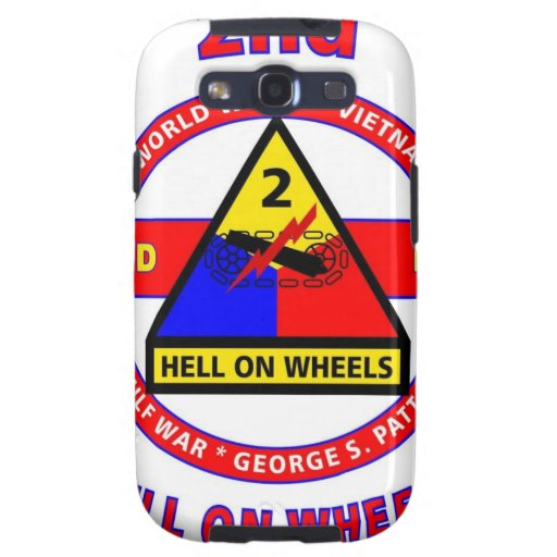 """2ND ARMORED DIVISION """"HELL ON WHEELS"""" GALAXY S3 CASE"""