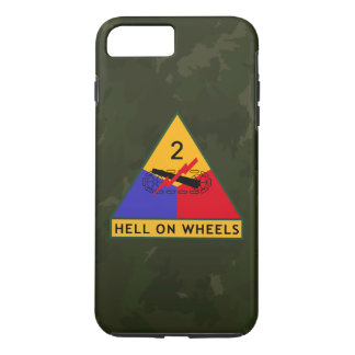 "2nd Armored Division ""Hell On Wheels"" FURY iPhone 8 Plus/7 Plus Case"