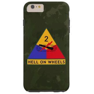 "2nd Armored Division ""Hell On Wheels"" FURY Tough iPhone 6 Plus Case"