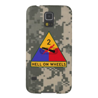 """2nd Armored Division """"Hell On Wheels"""" Galaxy S5 Cases"""