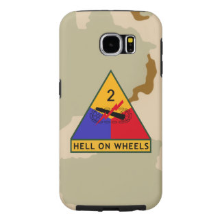 """2nd Armored Division """"Hell On Wheels"""" Samsung Galaxy S6 Case"""