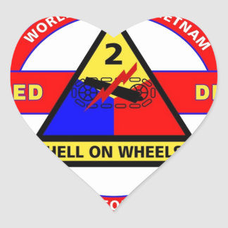 """2ND ARMORED DIVISION """"HELL ON WHEELS"""" STICKERS"""