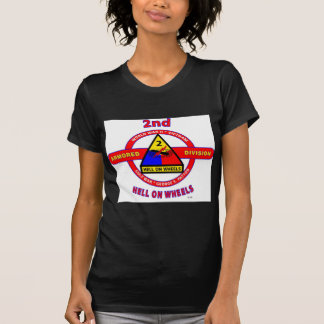 """2ND ARMORED DIVISION """"HELL ON WHEELS"""" T-Shirt"""