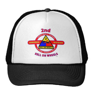 "2ND ARMORED DIVISION ""HELL ON WHEELS"" TRUCKER HAT"