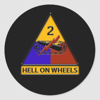 2nd Armored Division Round Stickers
