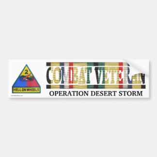 2nd Armored Division SWA Combat Veteran Sticker