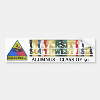2nd Armored Division U of Southwest Asia Sticker