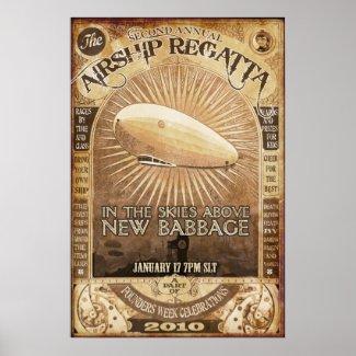 2nd Babbage Airship Regatta Poster print