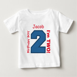 2nd BABY Birthday Big Sports Number A03. Baby T-Shirt