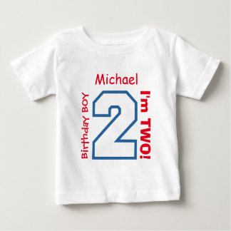 2nd BABY Birthday Big Sports Number A04. Baby T-Shirt