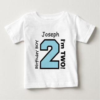 2nd BABY Birthday Big Sports Number A08. Tee Shirt
