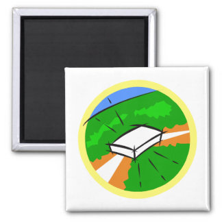 2nd base 2 inch square magnet