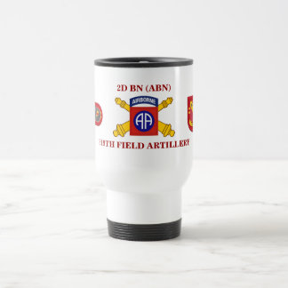 2ND BATTALION 319TH FIELD ARTILLERY TRAVEL MUG