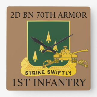 2ND BATTALION 70TH ARMOR 1ST INFANTRY CLOCK