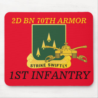 2ND BATTALION 70TH ARMOR 1ST INFANTRY MOUSEPAD