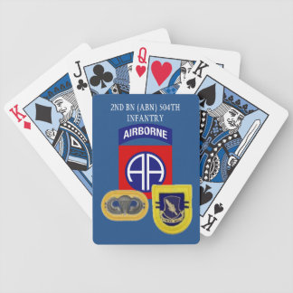 2ND BATTALION (ABN) 504TH INFANTRY PLAYING CARDS