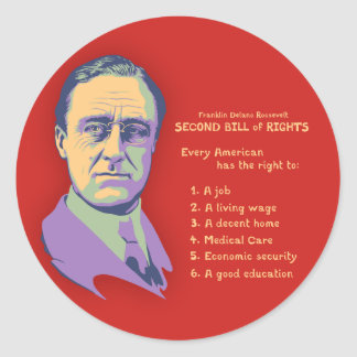 2nd Bill of Rights Classic Round Sticker