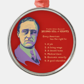 2nd Bill of Rights Round Metal Christmas Ornament