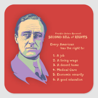 2nd Bill of Rights Square Sticker