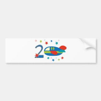 2nd Birthday Airplane Bumper Sticker