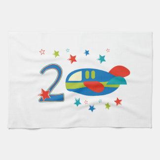 2nd Birthday Airplane Kitchen Towel