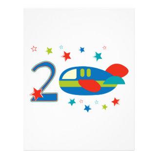 2nd Birthday Airplane Letterhead