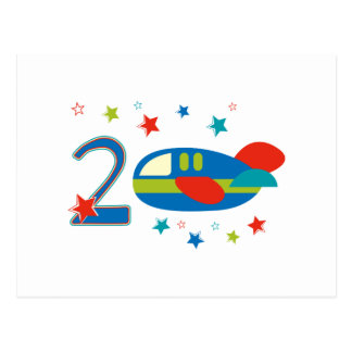 2nd Birthday Airplane Post Cards