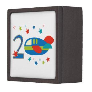 2nd Birthday Airplane Premium Jewelry Boxes