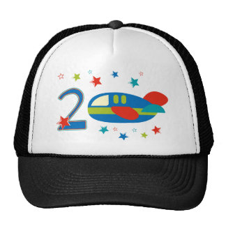 2nd Birthday Airplane Trucker Hat