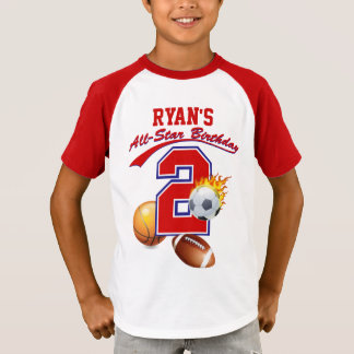 2nd Birthday All-Star Sports Ringer T-shirt