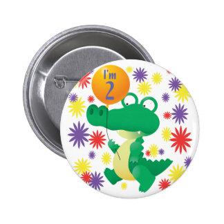 2nd Birthday Alligator Buttons