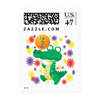 2nd Birthday Alligator Stamp