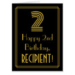 """[ Thumbnail: 2nd Birthday: Art Deco Inspired Look """"2"""" + Name Card ]"""