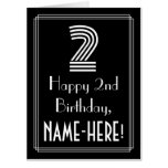 """[ Thumbnail: 2nd Birthday — Art Deco Inspired Look """"2"""" + Name Card ]"""
