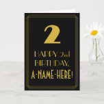 """[ Thumbnail: 2nd Birthday ~ Art Deco Inspired Look """"2"""" & Name Card ]"""