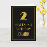"""[ Thumbnail: 2nd Birthday – Art Deco Inspired Look """"2"""" & Name Card ]"""