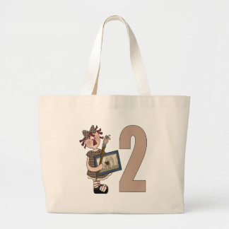 2nd Birthday Artist Large Tote Bag