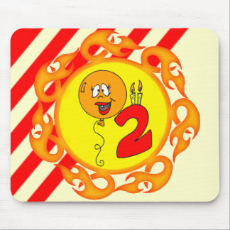 2nd Birthday Balloon Mouse Pad