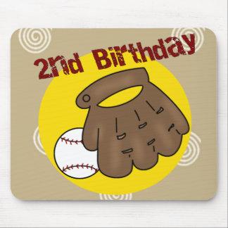 2nd Birthday Baseball Mouse Pad