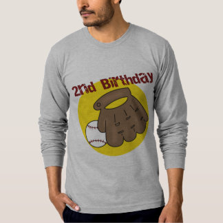 2nd Birthday Baseball T-Shirt
