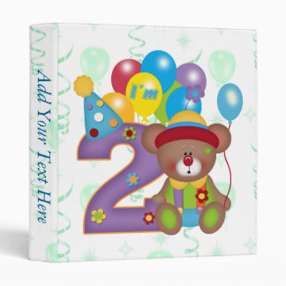 2nd Birthday Bear Clown Birthday Binder