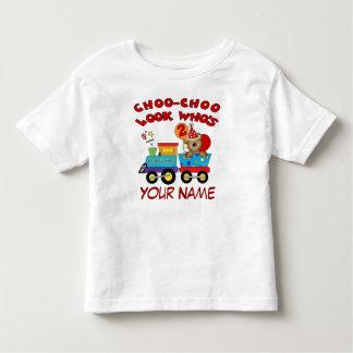 2nd birthday bear train personalized t-shirt