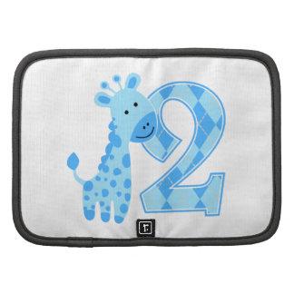 2nd Birthday Blue Giraffe Organizers