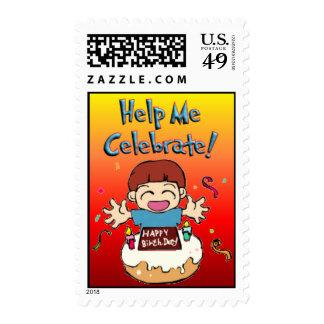2nd Birthday Boy Invitation Stamps