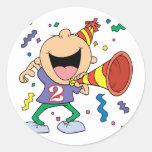2nd Birthday Boy Round Stickers