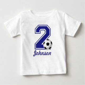 2nd Birthday boy soccer,football personalized Baby T-Shirt